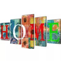 Taulusarja Värikäs Koti 100 x 50 cm