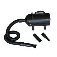vidaXL Koiran turkinkuivaaja 3 suutinta musta 2400 W