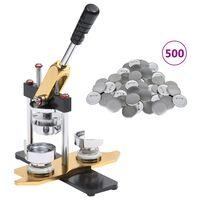 vidaXL Rintanappilaite 500 kpl pinssien osia 25 mm pyörivä leikkuri