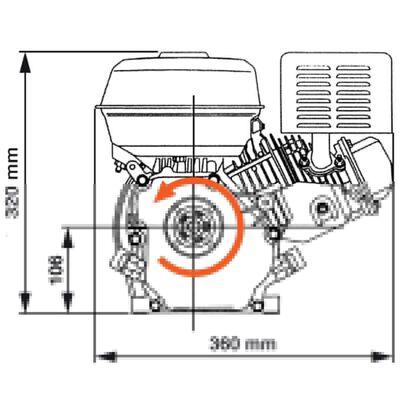 vidaXL Ottomoottori 6,5 hv 4,8 kW musta