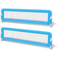 vidaXL Turvalaita sänkyyn 2 kpl sininen 150x42 cm