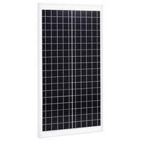 vidaXL Aurinkopaneeli 30 W monikiteinen alumiini ja turvalasi