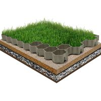 vidaXL Nurmikon ruudukko 16 kpl vihreä 60x40x3 cm muovi