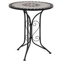 vidaXL Mosaiikkibistropöytä harmaa 61 cm keramiikka