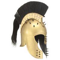 vidaXL Kreikkaisen sotilaan kypärä antiikki kopio messinki teräs