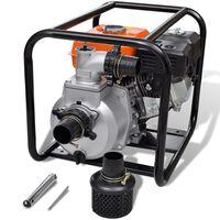 Vesipumppu Polttomoottorilla 80 mm Liitin 6,5 HP