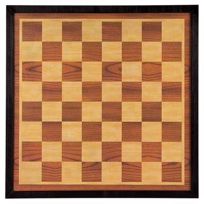 Abbey Game Shakki- ja tammilauta 41x41 cm puu ruskea ja beige