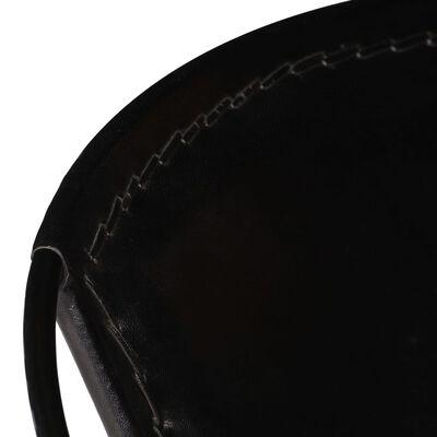 vidaXL Tuoli musta aito nahka