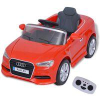 vidaXL Sähköleluauto Kauko-ohjauksella Audi A3 Punainen