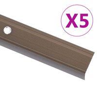 vidaXL Portaikon suojukset L-muotoiset 5 kpl alumiini 134 cm ruskea