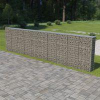 vidaXL Gabion-kivikori kansilla galvanoitu teräs 600x30x150 cm