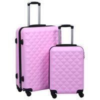vidaXL Kovapintainen matkalaukkusetti 2 kpl pinkki ABS