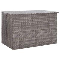 vidaXL Ulkosäilytyslaatikko harmaa 150x100x100 cm polyrottinki