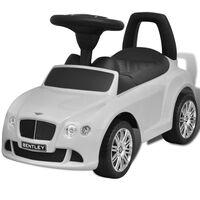 Bentley Valkoinen Lasten Jalkakäyttöinen Auto