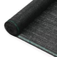 vidaXL Tenniskentän suojaverkko HDPE 1,6x50 m musta