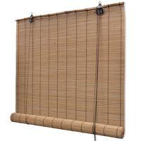 vidaXL Rullaverho bambu 80x220 cm ruskea