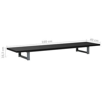 vidaXL Kylpyhuoneen huonekalu musta 160x40x16,3 cm