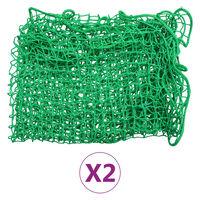 vidaXL Peräkärryn verkot 2 kpl 2,5x4,5 m PP