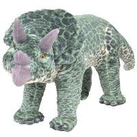 vidaXL Seisova leludinosaurus Triceratops XXL plyysi vihreä