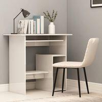vidaXL Työpöytä korkeakiilto valkoinen 80x45x74 cm lastulevy