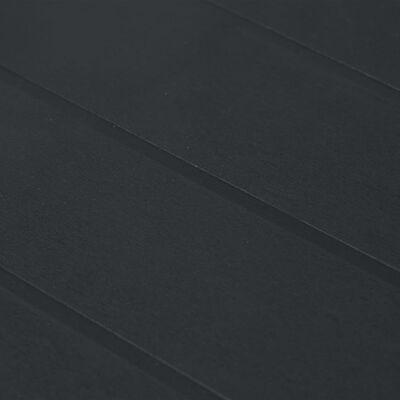 vidaXL Puutarhapöytä rottinkityylinen muovi 105x90x72 cm antrasiitti