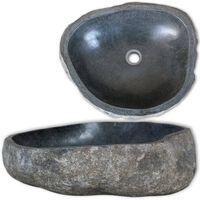 vidaXL Pesuallas jokikivi soikea 30-37 cm