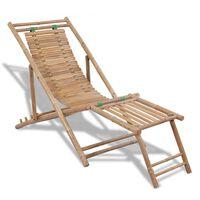 vidaXL Rantatuoli jalkatuella bambu
