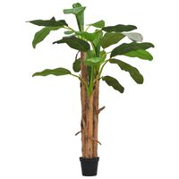 vidaXL Tekokasvi ruukulla banaanipuu 250 cm vihreä