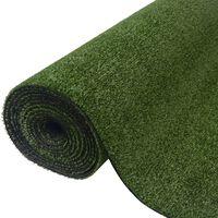 vidaXL Keinonurmi 1,5x10 m/7-9 mm vihreä
