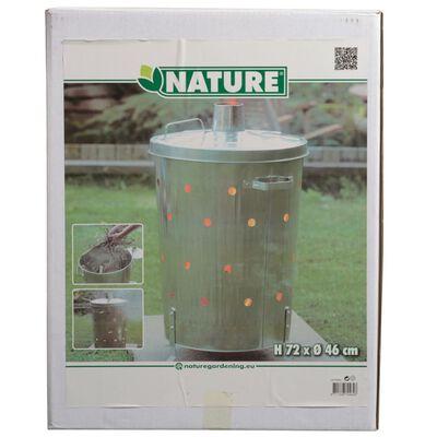 Nature Puutarhan jätteenpolttouuni galvanoitu teräs 46x72 cm pyöreä