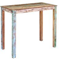 vidaXL Baaripöytä kierrätetty massiivipuu 115x60x107 cm