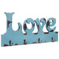 vidaXL Seinälle kiinnitettävä naulakko LOVE 50x23 cm