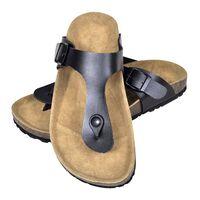 vidaXL Naisten biokorkki sandaali varvastossu malli musta koko 38