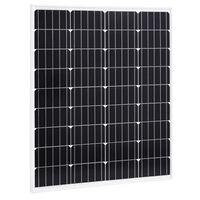 vidaXL Aurinkopaneeli 80 W yksikiteinen alumiini ja turvalasi