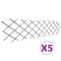 vidaXL Pajusäleikköaidat 5 kpl 180x60 cm
