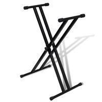 Säädettävä Kaksoistuettu Kosketinsoitinteline X-runko