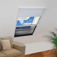 vidaXL Laskostettu hyönteisverkko ikkunaan 110x160 cm alumiini