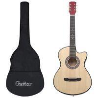 """vidaXL 12-osainen akustinen cutaway-kitarasetti 6-kielinen 38"""""""