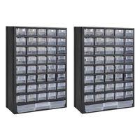 vidaXL 41-laatikkoinen varastokaappi/työkalulaatikko 2 kpl muovi