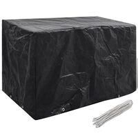 vidaXL Puutarhakalusteiden suoja 8 purjerengasta 140 x 70 x 90 cm