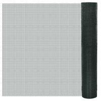 vidaXL Kanaverkko galvanoitu PVC pinnoitteella 25x1 m vihreä