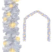 vidaXL Jouluköynnös LED-valoilla 5 m valkoinen