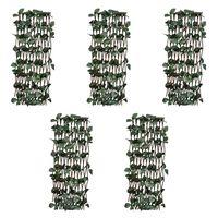vidaXL Pajusäleikköaidat 5 kpl keinotekoisilla lehdillä 180x120 cm