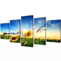 Taulusarja Auringonkukka 100 x 50 cm