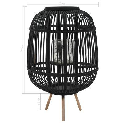 vidaXL Vapaasti seisova kynttilänpidike bambu musta