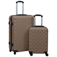 vidaXL Kovapintainen matkalaukkusetti 2 kpl ruskea ABS