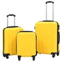 vidaXL Kovapintainen matkalaukkusetti 3 kpl keltainen ABS