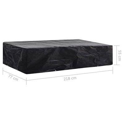 vidaXL Aurinkotuolin suoja 2 kpl 8 purjerengasta 218x77x55 cm