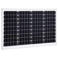 vidaXL Aurinkopaneeli 40 W yksikiteinen alumiini ja turvalasi