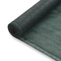 vidaXL Tenniskentän suojaverkko HDPE 1x25 m vihreä